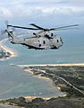 ROYAL NAVY Merlin Helicopter Flying Over South Coast of England MOD 45153996.jpg