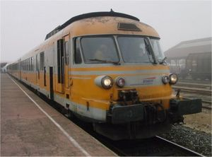 SNCF Class T 2000 - T 2013 at Roanne on 12 December 2004, a month before withdrawal.