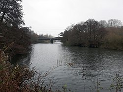 Rail bridge over the River Thames, carrying the Cherwell Valley line 01.jpg
