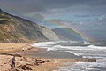 Rainbow at Charmouth Beach - geograph.org.uk - 1416292.jpg