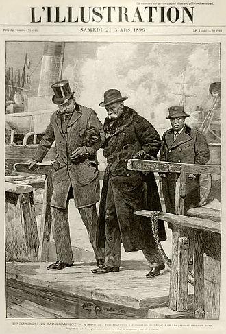 Rainilaiarivony - Cover of L'Illustration magazine depicting Rainilaiarivony arriving at the port of Algiers (1896)