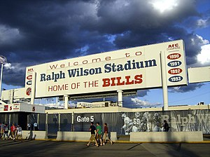 Ralph Wilson signage display past glories
