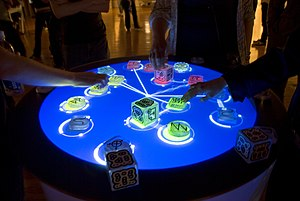 Tangible user interface - Reactable, an electronic musical instrument example of tangible user interface.