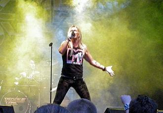 H. Olliver Twisted - Olli Herman with Reckless Love at Skogsröjet festival, Rejmyre, Sweden, 2012