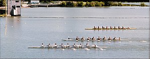 Royal Canadian Henley Regatta - Finish line at the Royal Canadian Henley Regatta