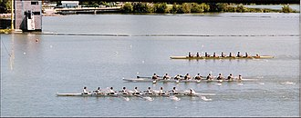 Royal Canadian Henley Regatta - Finish line at the Royal Canadian Henley Regatta