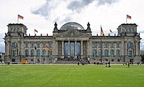 Reichstag, seat of the parliament, Berlin.
