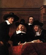 Rembrandt - Sampling Officials of the Drapers' Guild (detail) - WGA19146.jpg