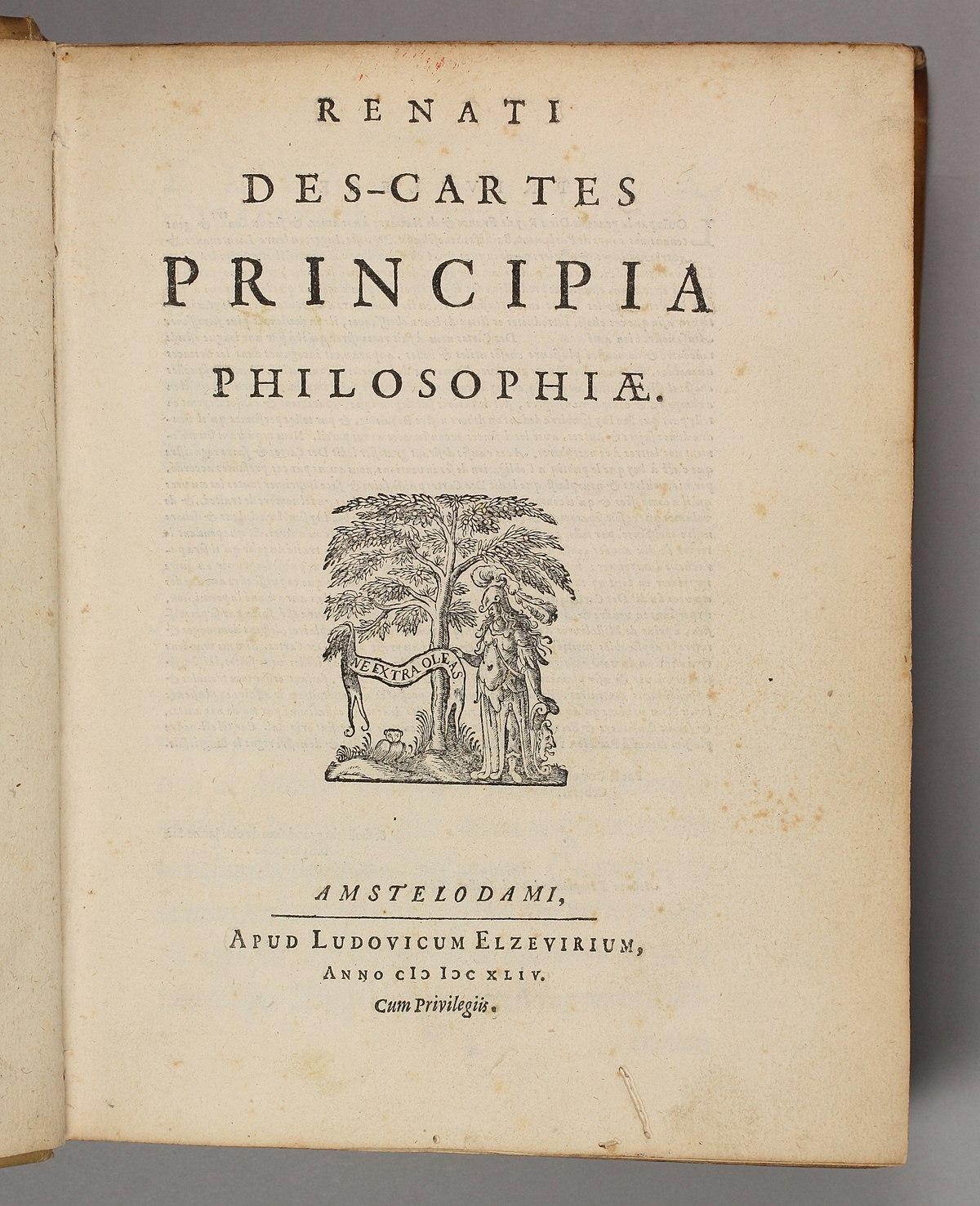 Principios De La Filosofía Descartes Wikipedia La Enciclopedia Libre
