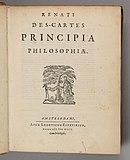 René Descartes 1644 Principia philosophiae
