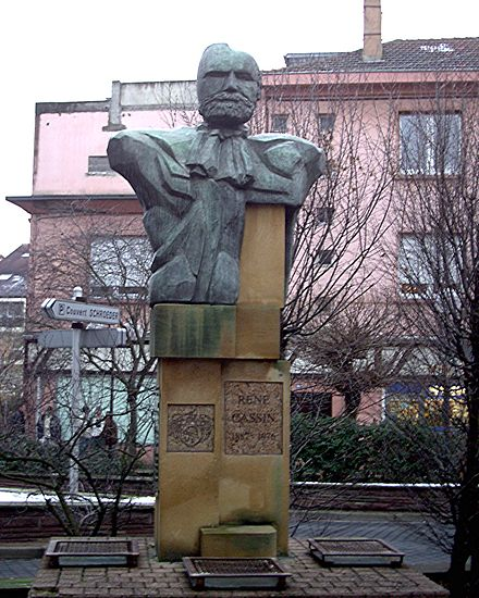 Memorial to Cassin in Forbach, France ReneCassin.JPG