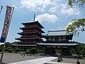 Rengein Tanjo-ji Okunoin Five-story Pagoda and Niomon.jpg