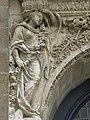 Rennes (35) Église Notre-Dame en Saint-Melaine Extérieur Tour-clocher Détail 01.jpg