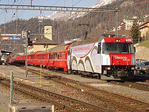 Rhaetian Railway Ge 4/4 III - No 650 Seewis im Prättigau at St Moritz.
