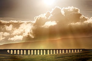 1876 in rail transport - Ribblehead Viaduct, Settle-Carlisle Railway