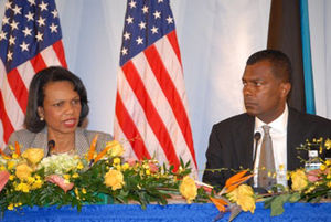 Fred Mitchell (Bahamas) - Fred Mitchell with Condoleezza Rice