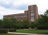 Completed in 1992, Richardson Library faces the Quad in the heart of DePaul University's main campus in Lincoln Park.
