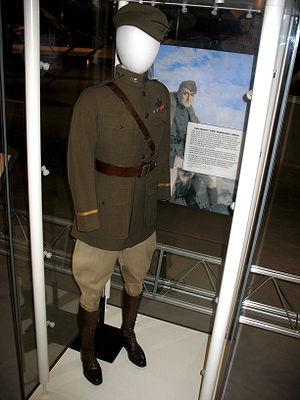 Eddie Rickenbacker - Rickenbacker's uniform on display at the Steven F. Udvar-Hazy Center