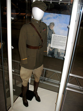 Eddie Rickenbacker - Rickenbacker's uniform on display at the Steven F. Udvar-Hazy Center