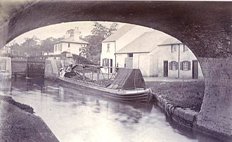 Batchworth - Image: Rickmansworth Canal with barge ca 1895