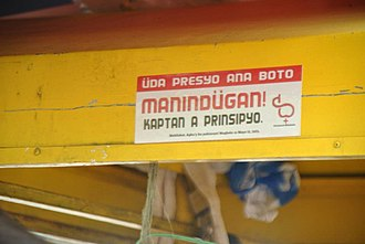 Bicol Region - An election campaign sticker written in Rinconada Bikol.
