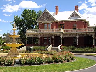 Mildura - Rio Vista, the former home of Canadian engineer William Chaffey, built in the Queen Anne style.