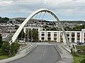 River Taff Central Link Bridge (geograph 6555411).jpg