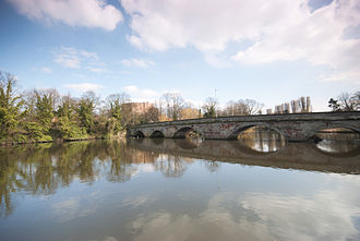 River Tame, West Midlands - The Tame at Tamworth, which takes its name from the river.