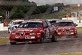 Roberto Colciago & Nicola Larini - Alfa Romeo 156 GTA leads Rickard Rydell - Volvo S60 & Andre Couto - Honda Civic Type-R (40453432960).jpg