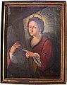 Roccalbegna, oratorio del crocifisso, interno, scuola senese del 600, sant'elena.JPG