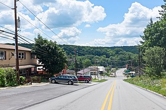 Rockwood, Pennsylvania - View down Bridge St.