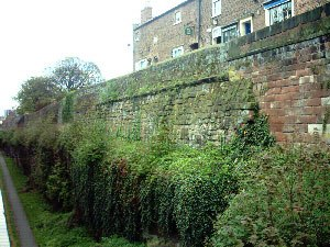 Deva Victrix - An original section of the Roman fortress wall is visible from the Northgate.