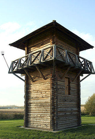 History of Workington - Reconstruction of a Roman watchtower.