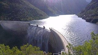 Roode Els Berg Dam Dam in Sanddriftkloof Hex Valley De Doorns South Africa