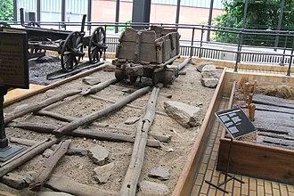 Permanent way (history) - Image: Round timber rails