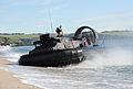 Royal Marine LCAC(LR) Hovercraft Landing on a Beach MOD 45154439.jpg