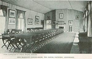 Royal Pavilion, Aldershot - The dining room in the Royal Pavilion in 1900