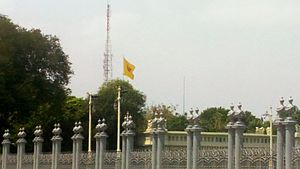 Royal Standard of Thailand - Royal Standard of Thailand at Dusit Palace.