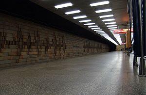 Roztyly (Prague Metro) - Platform