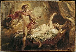 Theophany - Peter Paul Rubens' Death of Semele, caused by the theophany of Zeus without a mortal disguise