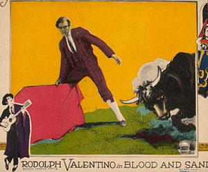 Film poster - Rudolph Valentino in Blood and Sand, 1922