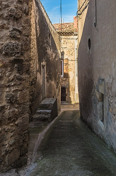 Gratien Carrière Street seen from Southwest.Murviel-lès-Béziers, Hérault, France.