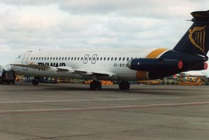 BAC One-Eleven - A Ryanair BAC One-Eleven seen at Dublin Airport in 1993.