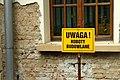 Rymanów, správa lesů, pozor stavební práce.jpg