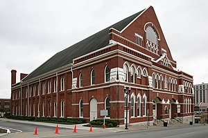 Ryman Auditorium - Ryman Auditorium, facing Nashville's Fifth Avenue North