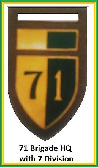 71 Motorised Brigade (South Africa) - Image: SADF 7 Division 71 Brigade HQ Flash
