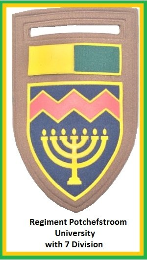 Regiment Potchefstroom Universiteit - Image: SADF 7 Division University of Potchefstroom Regiment Flash