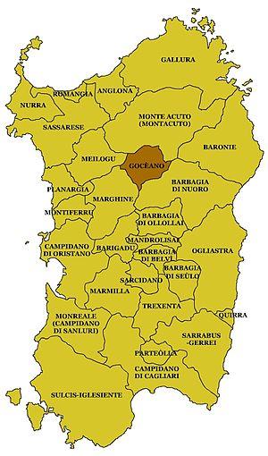 Goceano - Map Goceano