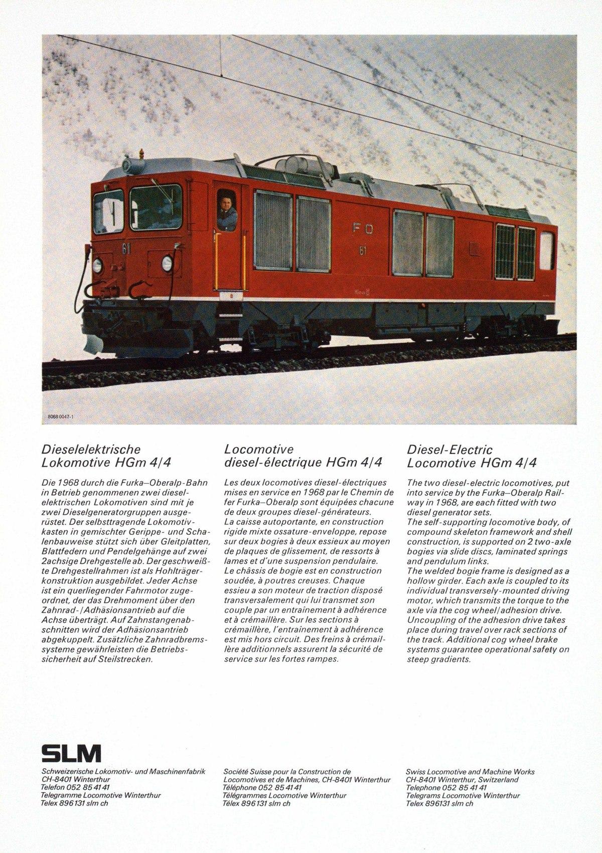 Datei:SBB Historic - 21 22 05 - Dieselelektrische Lokomotive HGm 4 ...