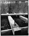 SIDE VIEW; DETAIL TOP OF FLUME-1980 - Power Flume No. 1, Tacoma, La Plata County, CO HAER COLO,33-TAC.V,3-17.tif